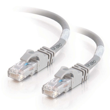 C2G 0.3m Cat6 Booted Unshielded (UTP) Network Patch Cable - Grey