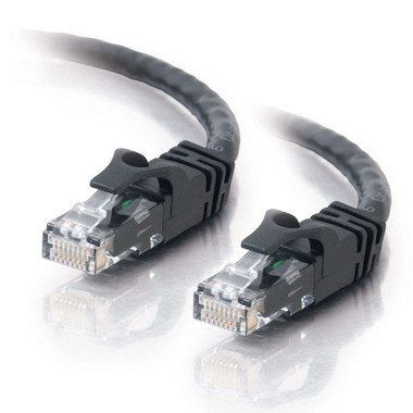 C2G 0.3m Cat6 Booted Unshielded (UTP) Network Patch Cable - Black
