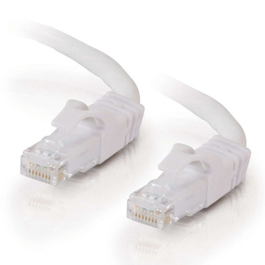 C2G 0.3m Cat6 Booted Unshielded (UTP) Network Patch Cable - White