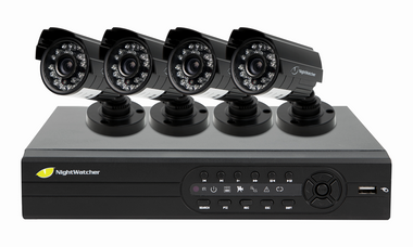 NightWatcher NW4D1-520-4B: Plug & Play CCTV System