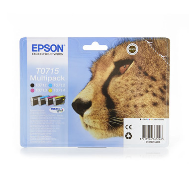 Epson Cheetah T0715 DURABrite 4 Colour Ultra Ink