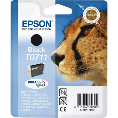 Epson T0711 - Print cartridge - 1 x black