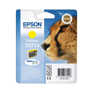 Epson T0714 Print cartridge - 1 x Yellow