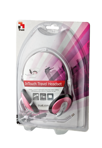 Trust - InTouch Travel Headset - Pink
