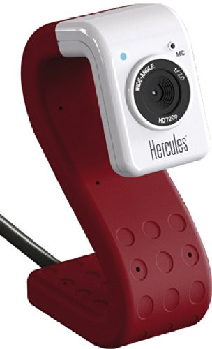 Hercules HD Twist 720p 5MP 1280x720 Webcam - Red