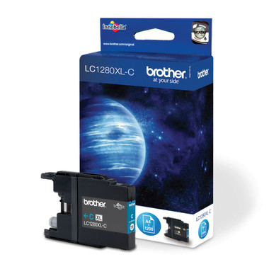 -Brother Original LC1280XLC Cyan Super High Yield Ink Cartridge