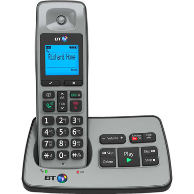 BT BT2500 Single Digital Cordless Phone with Answer Machine