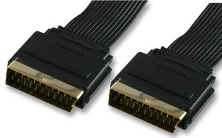 -Pro Signal Gold Plated 21 Pin Flat Scart Lead - 1.5M
