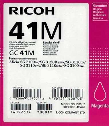 Ricoh 41M Gel Ink - Standard Capacity - Magenta (2400 Page)