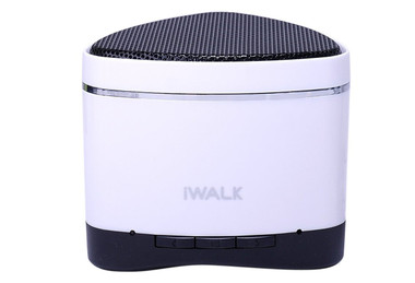 iWalk Sound Angle Mini Rechargeable Bluetooth Speaker - White (with SD card slot)