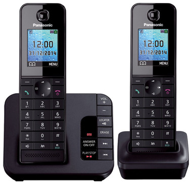 Panasonic KX-TGH222 Digital Cordless Answering System - 2 Handsets
