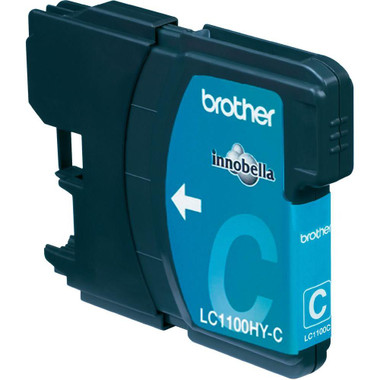 Brother LC1100HYC Genuine High Capacity Ink Cartridge - 750 page - Cyan