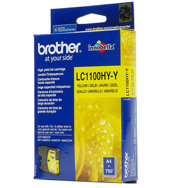 Brother LC-1100HYY Genuine High Yield Ink Cartridge - Yellow