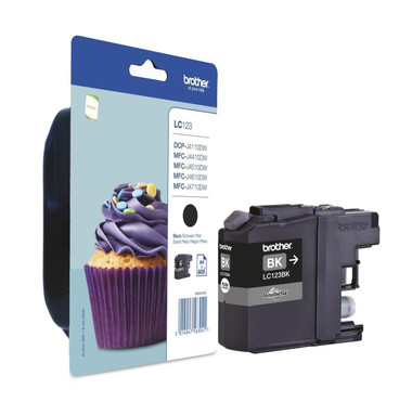 Brother LC123BK Genuine Ink Cartridge - Black