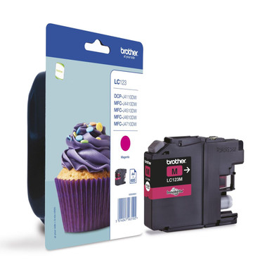 Brother LC123M Genuine Ink Cartridge - Magenta