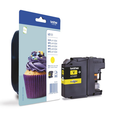 Brother LC123Y Genuine Ink Cartridge -  Yellow