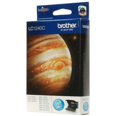 Brother LC1240C Genuine Ink Cartridge - Cyan