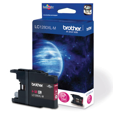 Brother LC1280XLM Genuine High Capacity Inkjet Cartridge - Magenta