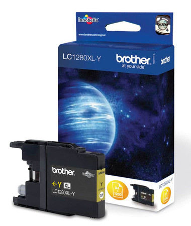 Brother LC1280XLY Genuine High Capacity Inkjet Cartridge -  Yellow