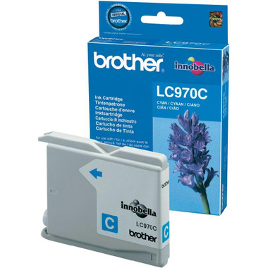 Brother LC970C Genuine Ink Cartridge - Cyan