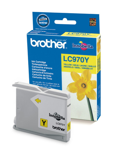 Brother LC970Y Genuine Ink Cartridge - Yellow