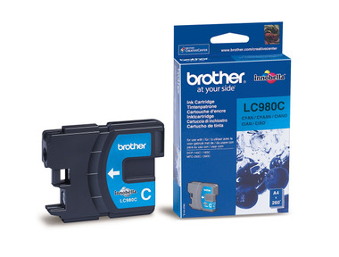 Brother LC980C Genuine Ink Cartridge - Cyan