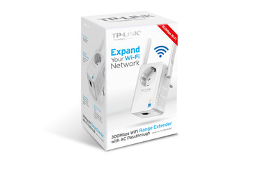 TP-LINK TL-WA860RE 300Mbps WiFi Range Extender with AC Passthrough