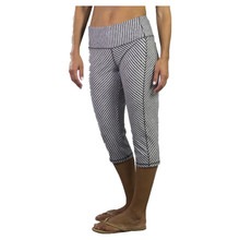 JoFit Women's Packable Capri - Carbon Diagonal Stripe