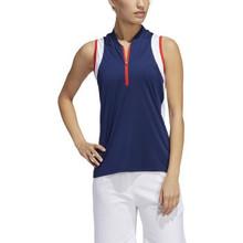 Adidas Golf Women's Colorblock Sleeveless Polo