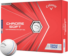 Callaway Chrome Soft 2020 Golf Balls - White (Triple Track)