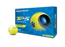 TaylorMade 2021 TP5 Golf Balls (Yellow)