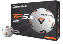 TaylorMade 2021 Tour Preferred TP5x piX 2.0 Golf Balls (1 Dozen)