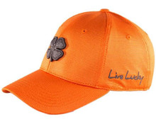 Black Clover Golf Pro Luck Cap Hat - Citrus Orange/Grey