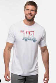 Travis Mathew Pledge To Beer Short Sleeve T-shirt - White