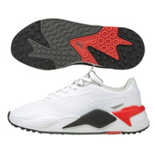 Puma Golf Men's RS-G Spikeless Golf Shoes - White/Black/Red
