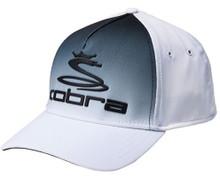 Cobra Golf Men's Tour Fade Hat Cap - White/Black