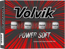 Volvik Power Soft Golf Balls - White - 1-Dozen