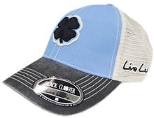 Black Clover Two Tone Vintage 19 Hat - One Size - Blue/Black/White