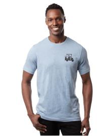 Travis Mathew Men's Fall Tee T-Shirt - Heather Copen Blue