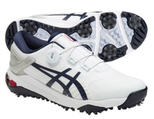 Asics Men's Gel-Course Duo BOA Golf Shoes - White/Peacoat