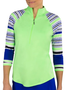 JoFit Women's 3/4 Sleeve Raglan Mock - Honeydew