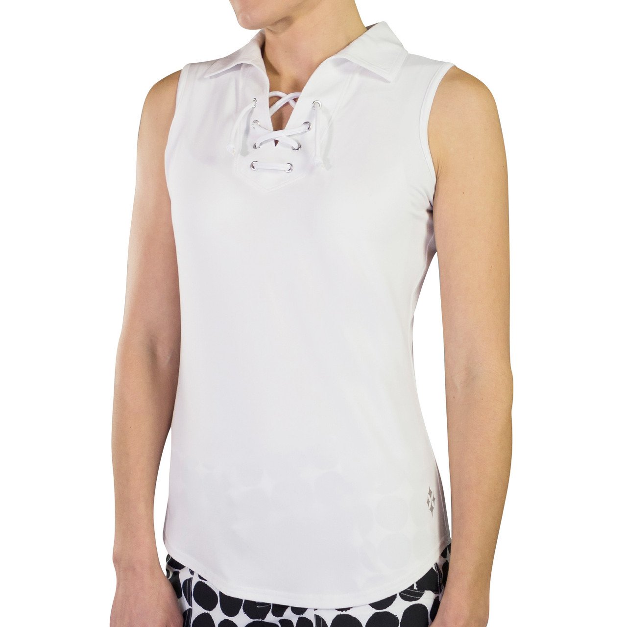 498e2aa7 ... JoFit Women's Lace Up Sleeveless Polo. See 3 more pictures