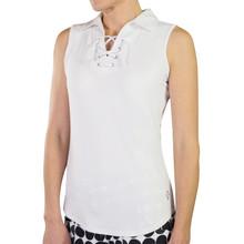 JoFit Women's Lace Up Sleeveless Polo