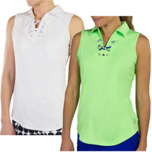 JoFit Women's Lace Up Sleeveless Polo