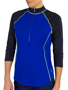 JoFit Women's 3/4 Sleeve Raglan Mock - Blueberry