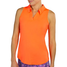 JoFit Women's Tech Cutaway Polo - Flamingo