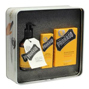 Proraso Vintage Tin Wood & Spice Beard Kit