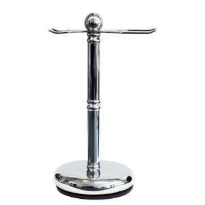 Parker Deluxe Chrome Safety Razor and Shaving Brush Stand