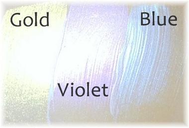 Gold, Violet and Blue over bare vinyl