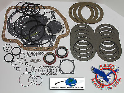 TH400 rebuild kit with high energy frictions less steels 1968-1995